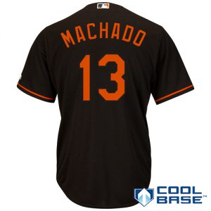 Manny Machado Youth Black Jersey (Cool Base)