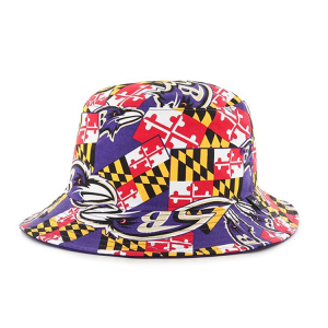 """Baltimore Ravens Maryland Flag Bucket Hat by """"47"""" Brand"""