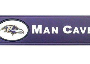 Baltimore Ravens Man Cave Sign 24 inX 8 in.