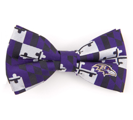 Baltimore Ravens Maryland Flag Bow Tie