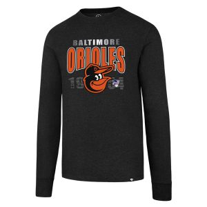 Baltimore Orioles Mens L/S  47 Brand T-Shirt