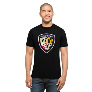 Baltimore Ravens Black Sheild S/S T-Shirt