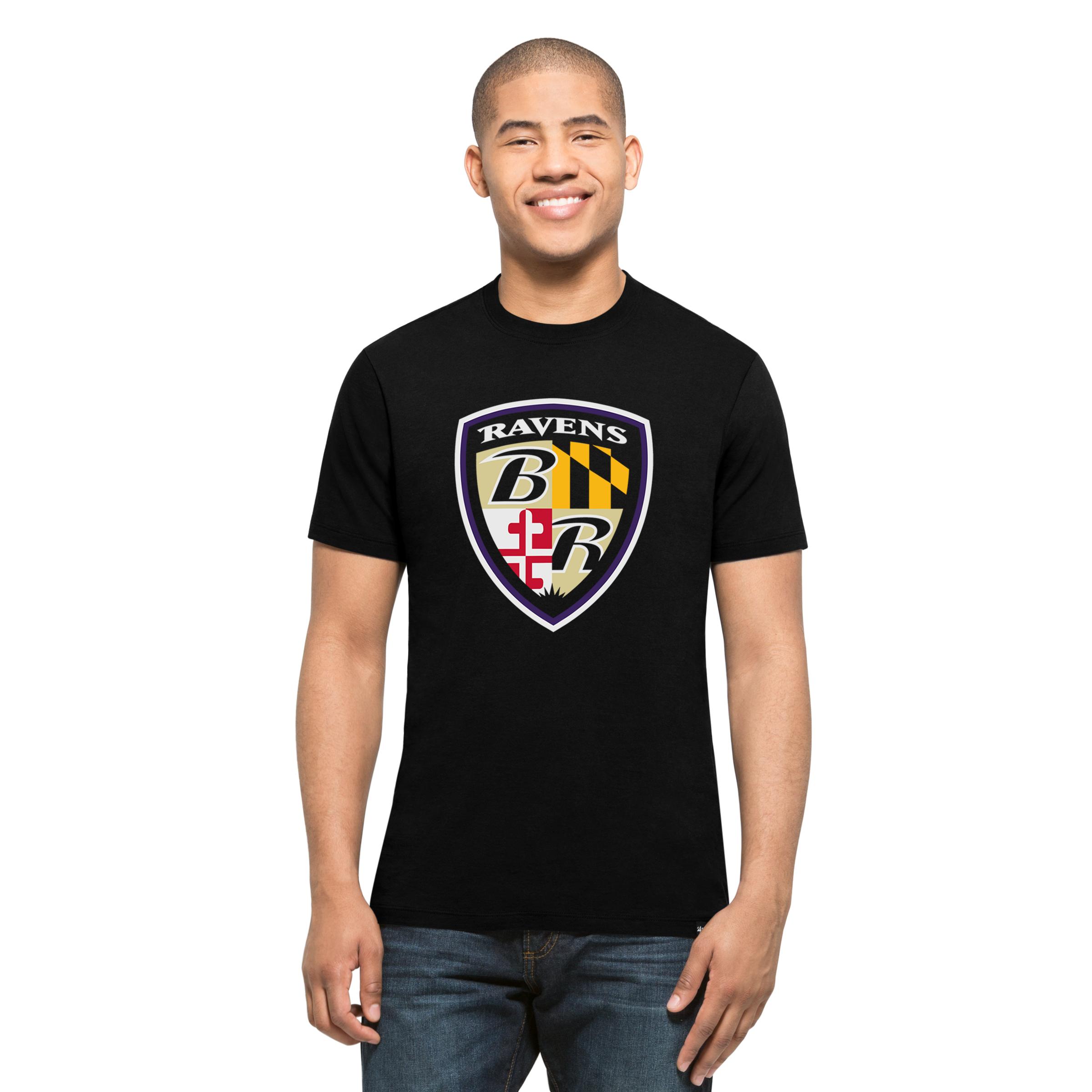 Baltimore Ravens Black Sheild S/S T-Shirt
