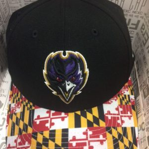 Baltimore Ravens Front Bird Maryland Flag Brim Snapback Cap