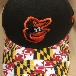Baltimore Orioles Maryland Flag Brim Snapback Cap (Black Front)