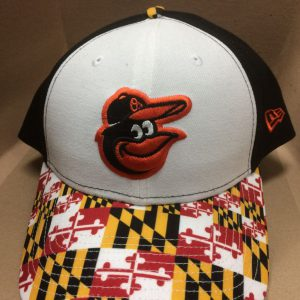Baltimore Orioles Maryland State Flag Brim Snapback (White front)