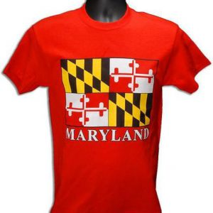 Maryland Flag S/S T-Shirt (RED)