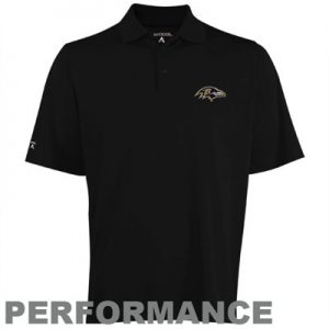 Baltimore Ravens Black Polo by Antgua
