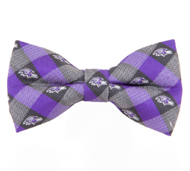 Baltimore Ravens Check Bow Tie
