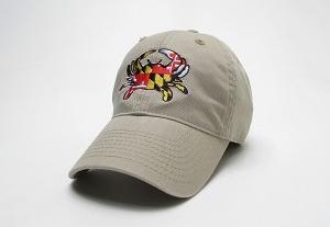 Maryland Flag Crab Khaki Cap