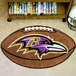 Ravens Football Shaped Mat