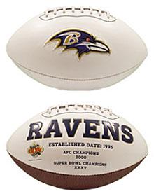 Ravens White Paneled Football