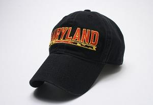 University of Maryland  Black Logo Cap