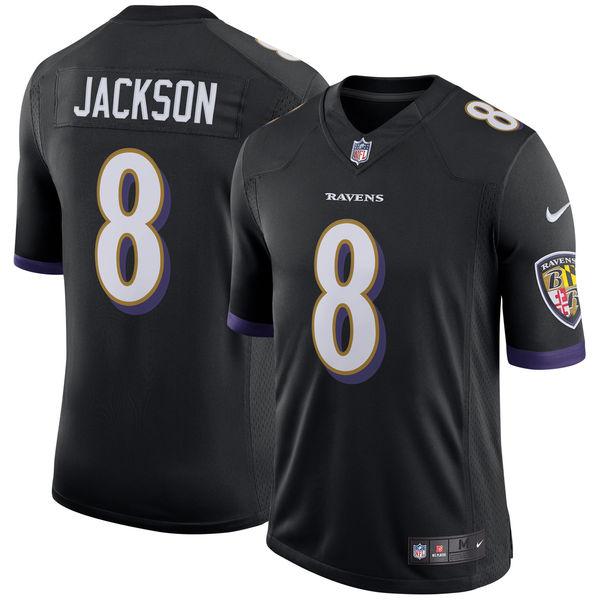 Baltimore Ravens Lamar Jackson Black Jersey