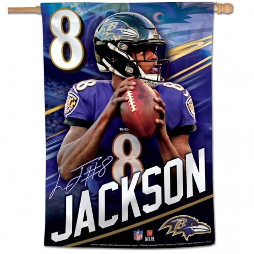 Lamar Jackson Vertical Flag