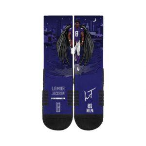 Baltimore Ravens Lamar Jackson Socks #1