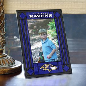 Baltimore Ravens Art Glass Picture Frame