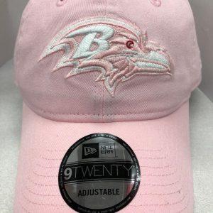 Baltimore Ravens Pink Adjustable Cap with tonal logo