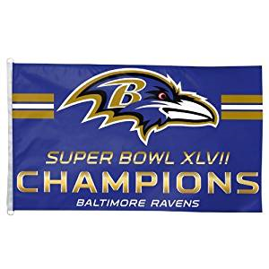 Baltimore Ravens 3 X 5 Super Bowl Champion Flag By Wincraft