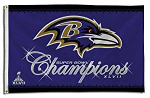 Baltimore Ravens 3 X 5 Super Bowl 47 Champion Flag by Rico