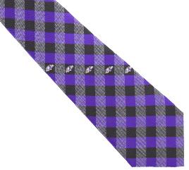 Baltimore Ravens Woven Poly Check Necktie