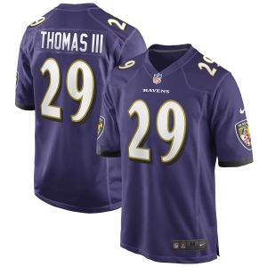 Baltimore Ravens Earl Thomas III Purple Game jersey
