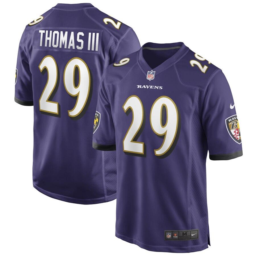 Baltimore Ravens Earl Thomas III Purple Game jersey