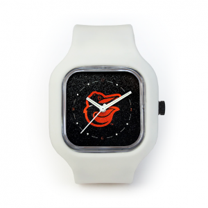 Baltimore Orioles White Strap Watch