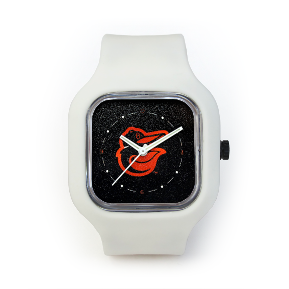 Baltimore Orioles White Strap Watch