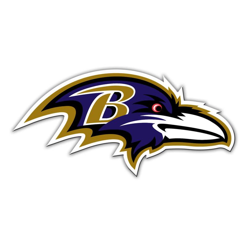 Baltimore Ravens 12in. Car Magnet