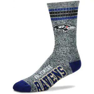 Baltimore Ravens Gray Heathered Socks