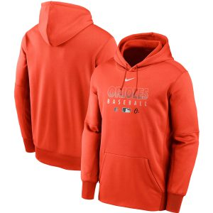 Baltimore Orioles Orange Hooded Sweatshirt